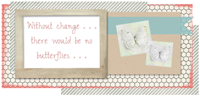 Without change . . . There would be no butterflies . . .