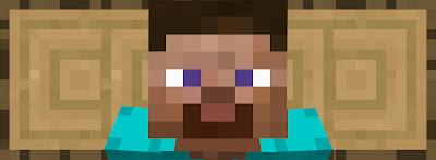 Steve Minecraft wood header theme template
