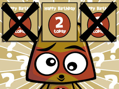 Did you work out which card the Miffed Mascot should've picked for our birthday?
