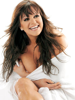 Jenni Rivera in white dress