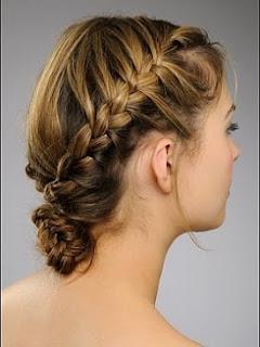 Clásico Peinado con Trenza Francesa por http://peinadostrenzashairstyles.blogspot.com