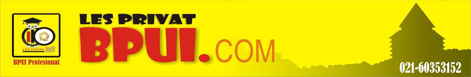BPUI | BIMBEL PRIVAT UI | Les Privat bpUI | Guru Les Privat , Super Intensif UN ,Supercamp UI