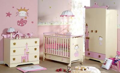 Dormitorio rosa colores bebe