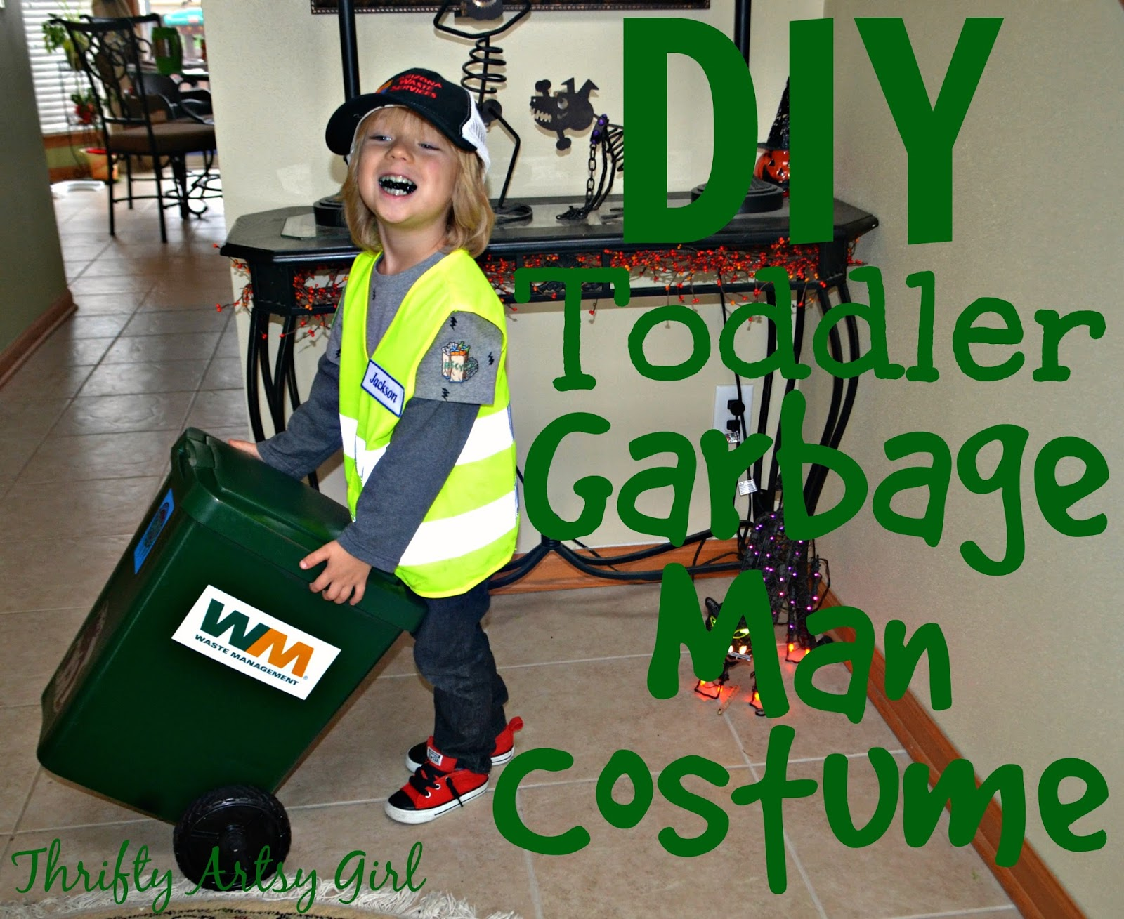 Take Out the Trash: DIY Toddler Sized Wheeled Trash Can and Garbage Man  Costume