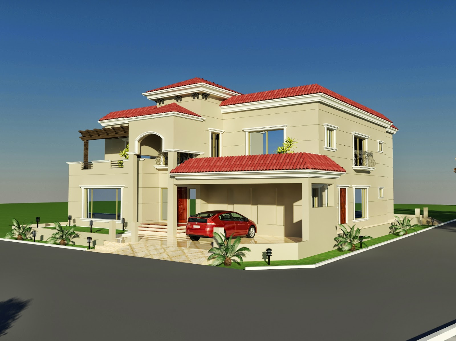 3d front 60 39 x 100 39 wapda town 1 kanal for One kanal house plan