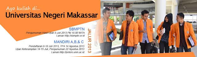 Penerimaan Jalur Mandiri Universitas Negeri Makassar 2013