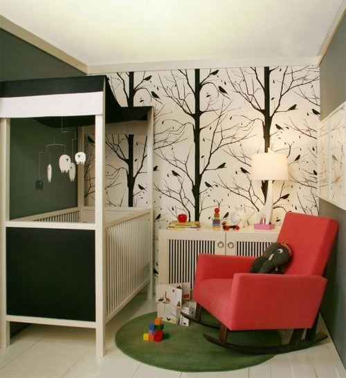 Space Wallpaper Decorating Small Baby Nursery Design Inspiration Small Nursery Ideas