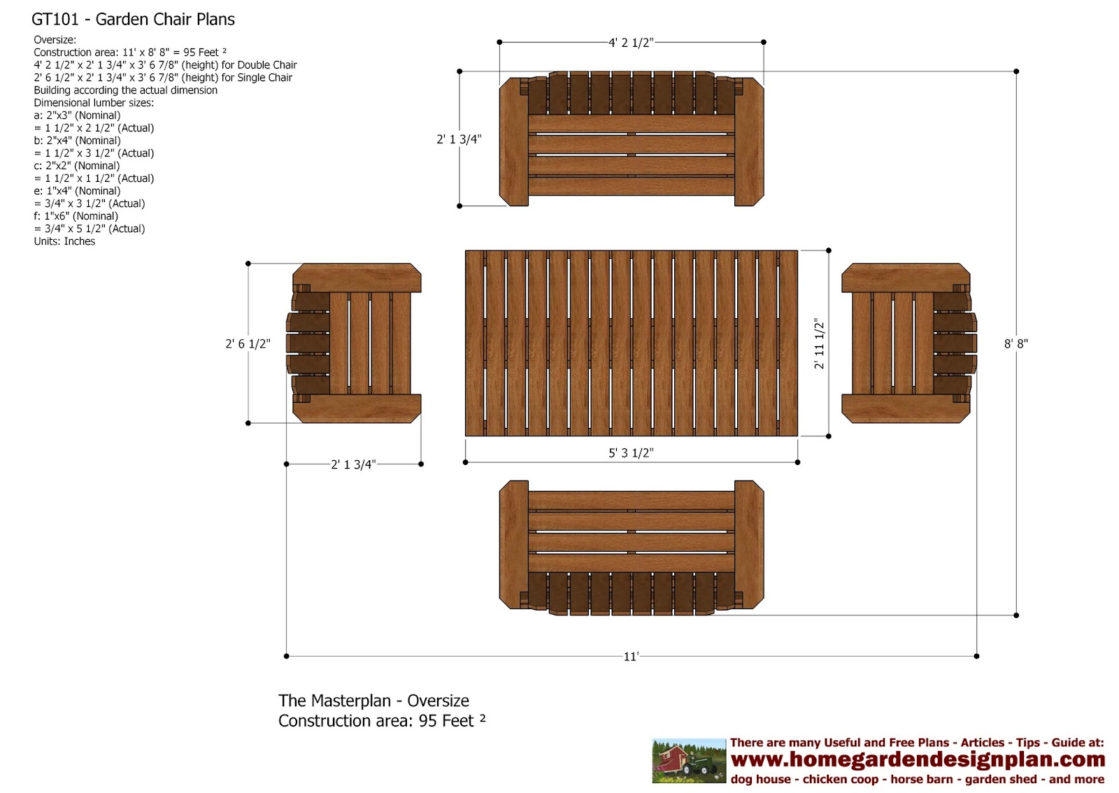 Home garden plans gt101 garden teak table plans out for Furniture blueprint maker