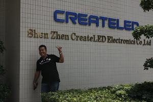 Lawatan di kilang LED Shenzen