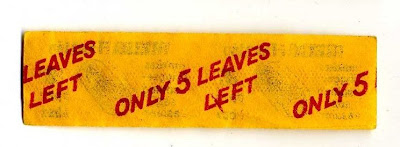 Only Five leaves left Rizla reminder