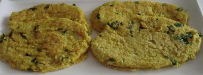 Galettes de pâtisson et de millet à la coriandre sans gluten et sans lactose
