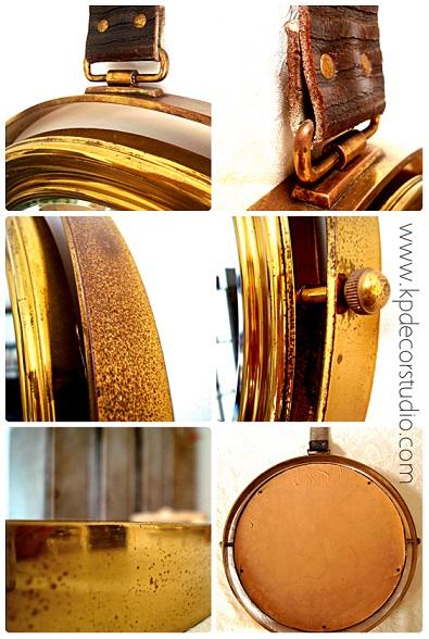 Espejos antiguos de latón y bronce