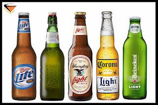 10 cervezas light