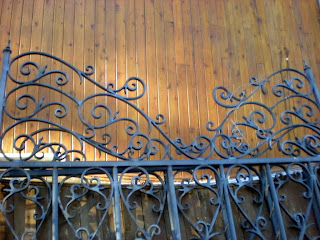 antique wrought iron arbor and gates recycle