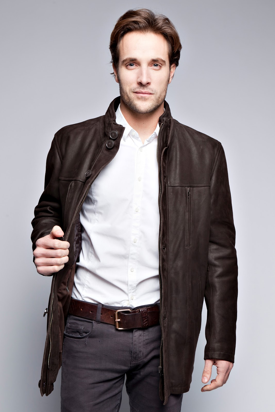 Belle veste en cuir homme