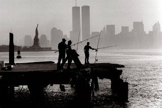 Fishing in the shadow of the Twin Towers
