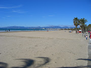 The beach of Salou in another really lovely day. It was incredibly pleasant . (catalunya salou beach)
