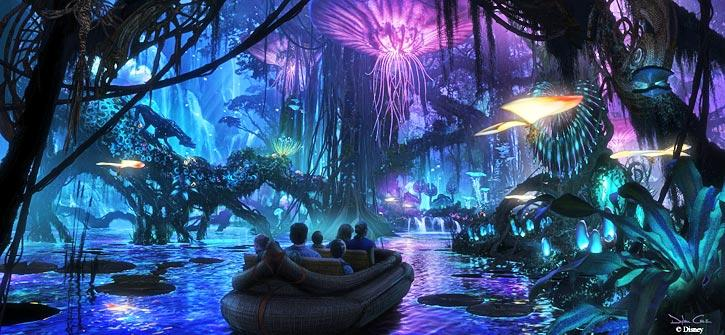 This Speculated Boat Ride Will Take Riders On A Journey Through The Wildlife Of Pandora Including Variety Bio Luminescent Plants And Animatronic Navi