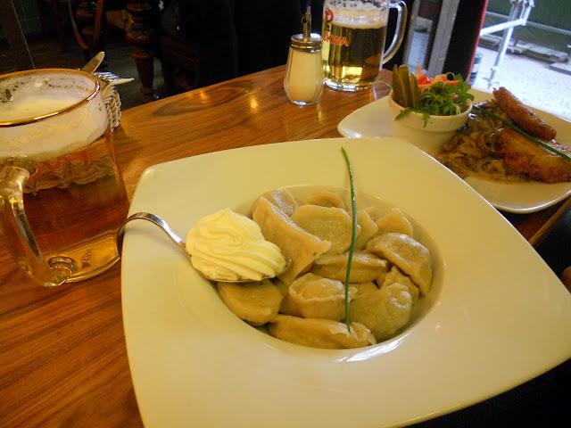 Russian food Pierogi