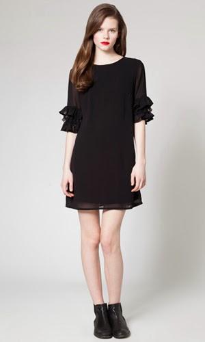 vestido negro corto LBD Poète comprar online
