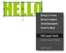 Edit Layer Style Photoshop Elements 10