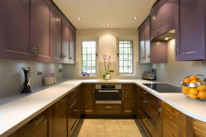 Narrow Kitchen Designs: Long Narrow Kitchen With Two Windows