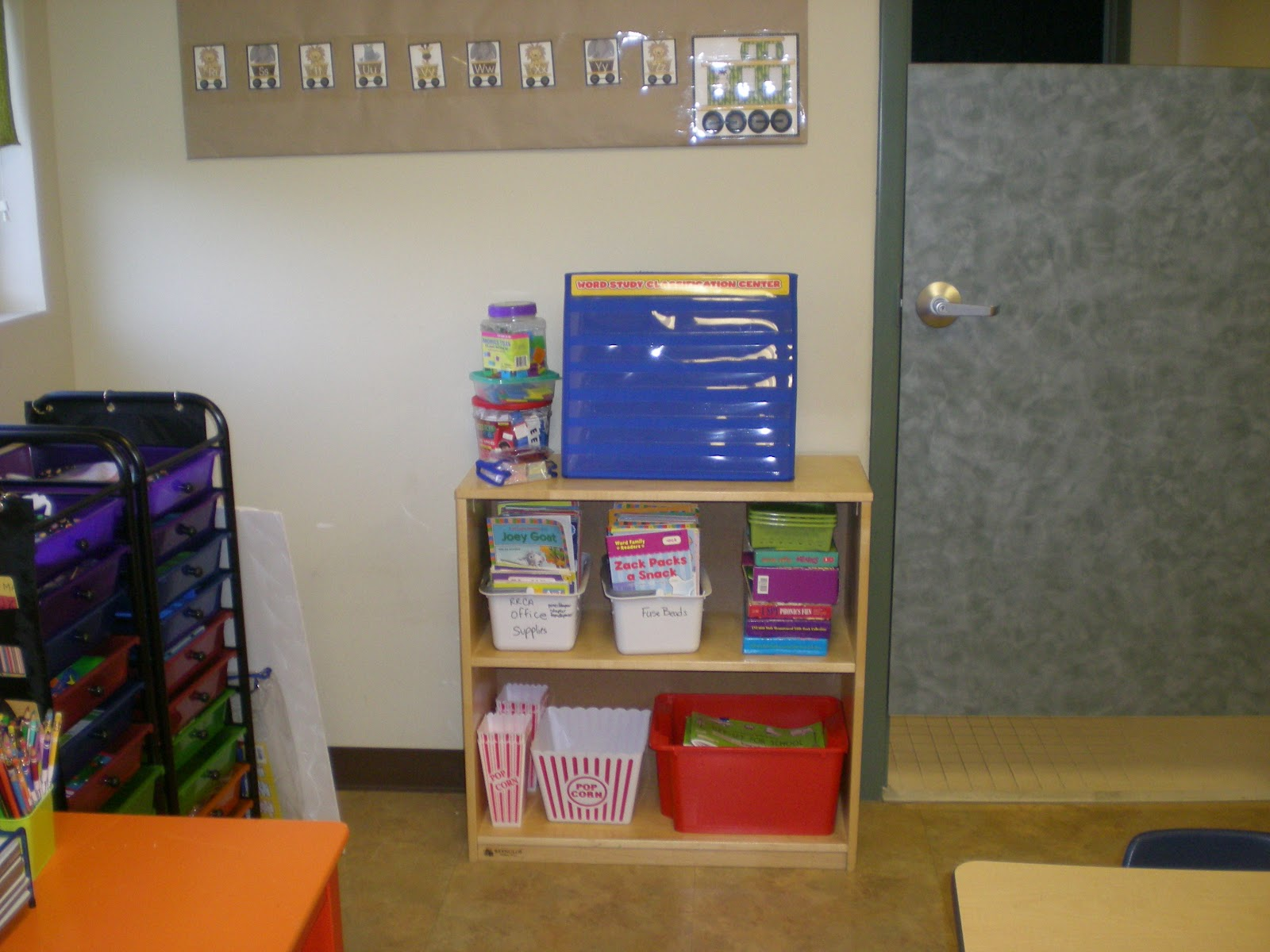 Classroom Storage Ideas ~ The crazy pre k classroom storage ideas for a small
