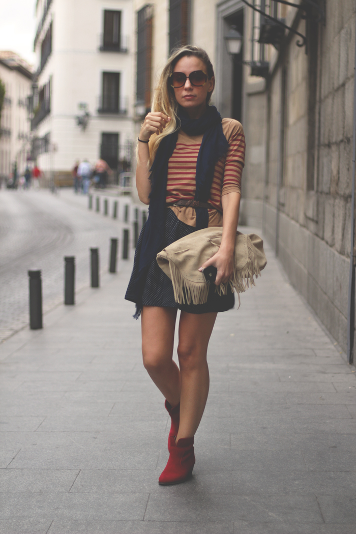 Sorteo, blog de moda, fashion blogger, outfit, autumn look, autumn trend, stripes, pilar burgos, pull&Bear, Street style, print mix