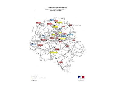 Carte des radars automatisés en Indre-et-Loire et projet 2011