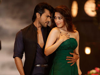 tamanna in hot green dress at 'Racha'  film