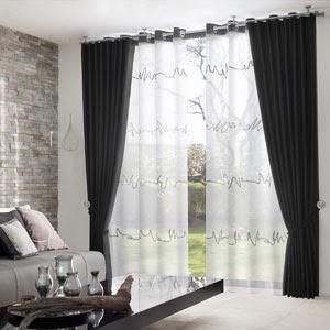 cortinas para la sala salas con estilo. Black Bedroom Furniture Sets. Home Design Ideas