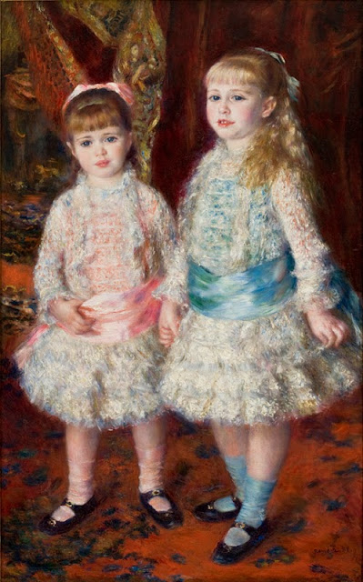 "Picture of ""Pink and Blue"" by Renoir, 1881"