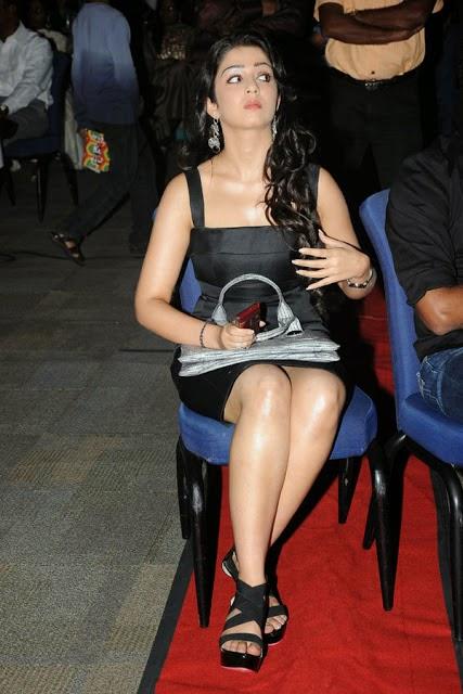 charmy kaur in black mini skirt hot pics hot bollwood actress