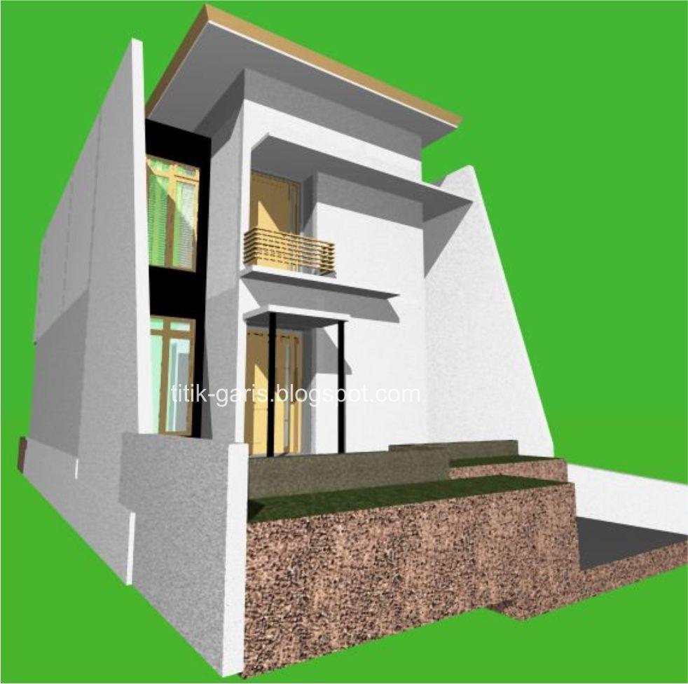 desain rumah 2 lantai di atas lahan 120 m2 7x17m rumah