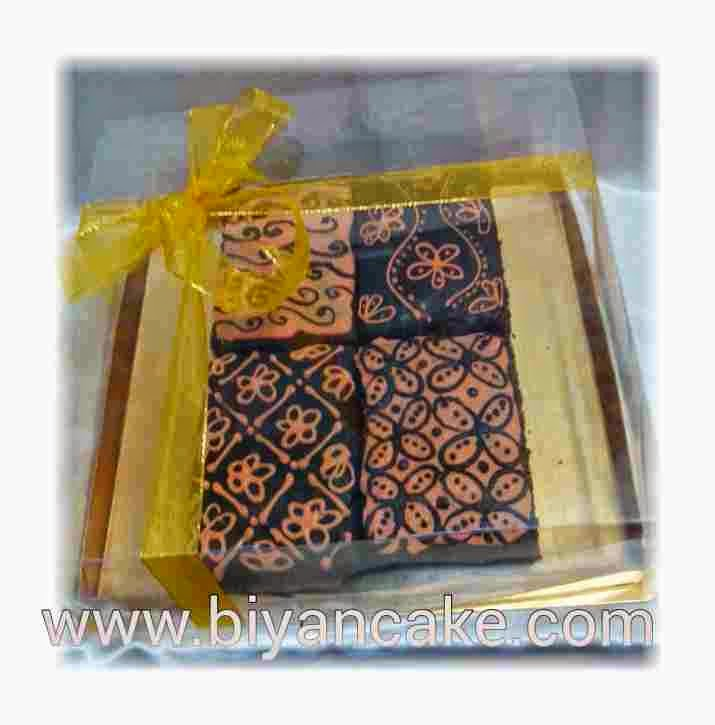 Brownies kukus batik orange