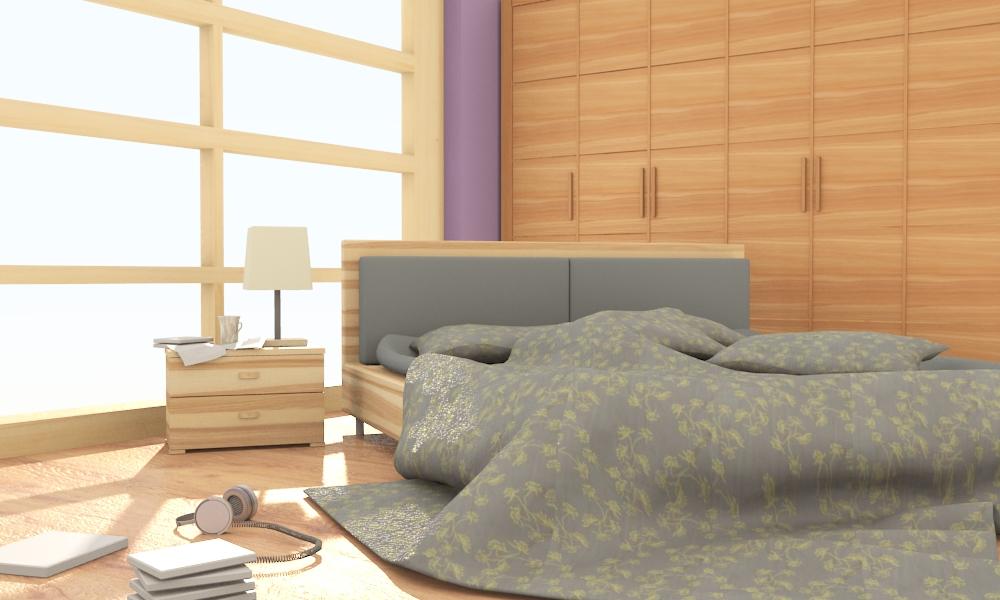 Visual Blender Interior Design Bedroom