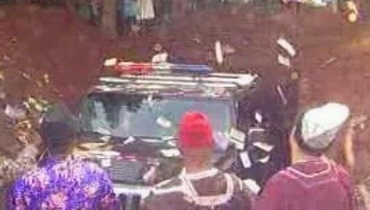 nigerian man hummer jeep burial