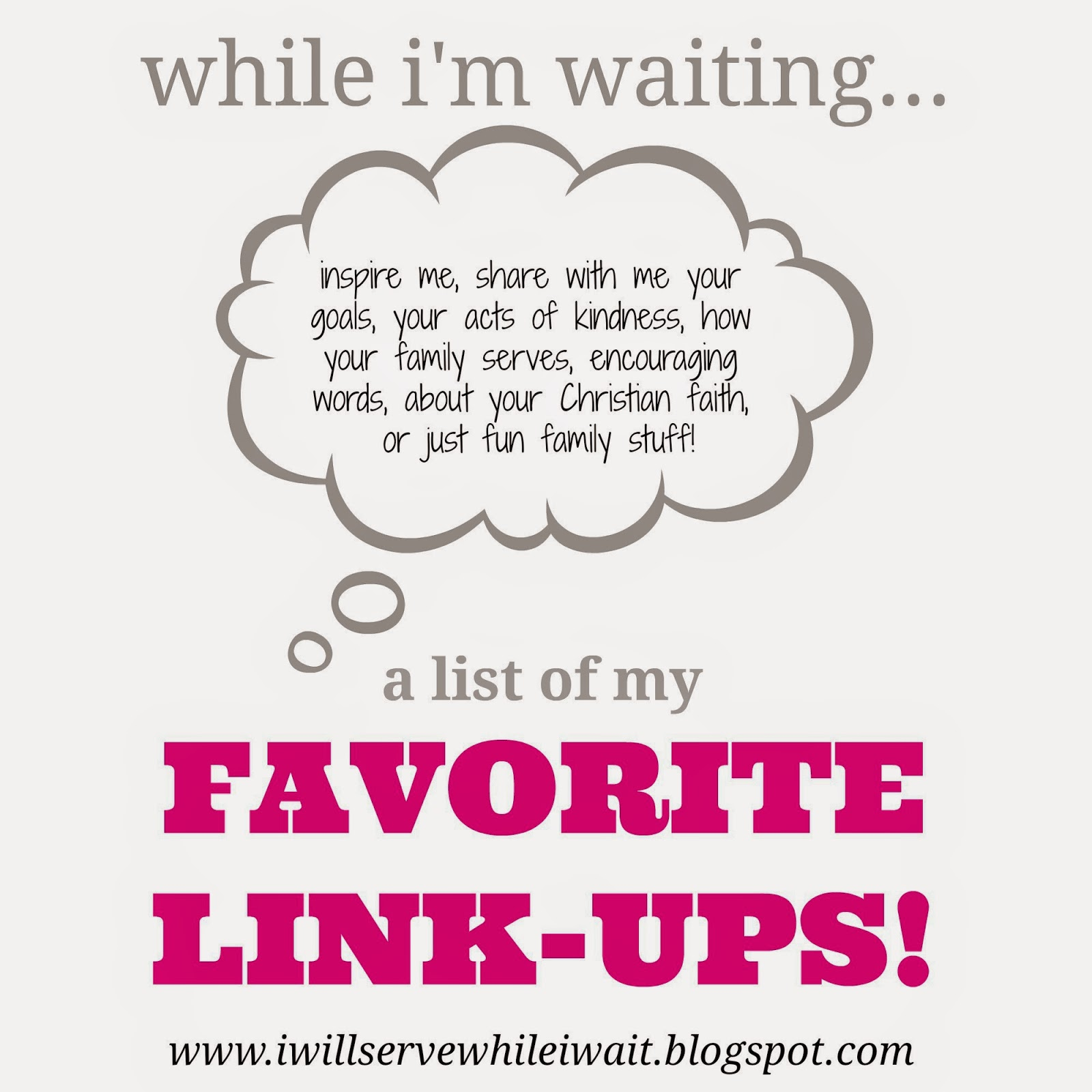 While I'm Waiting...favorite link-ups