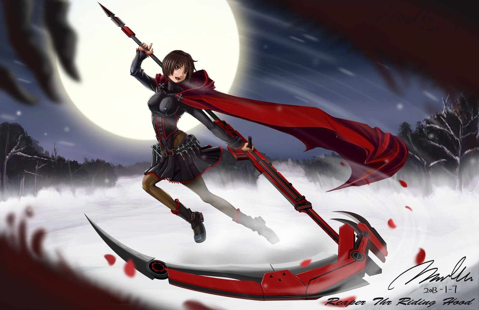 rwby red scythe rwby red by roxxorzz hot girls wallpaper