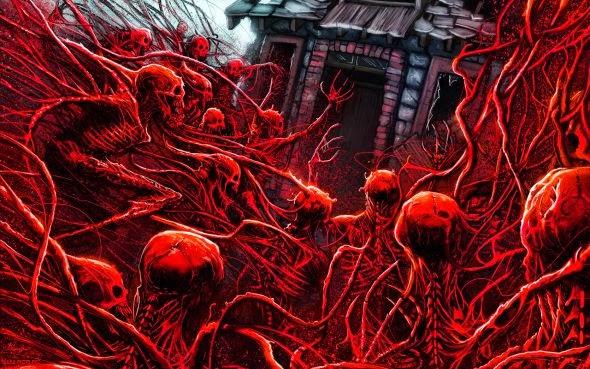 Austen Mengler lordnetsua deviantart ilustrações fantasia ficção científica sombria terror bizarro
