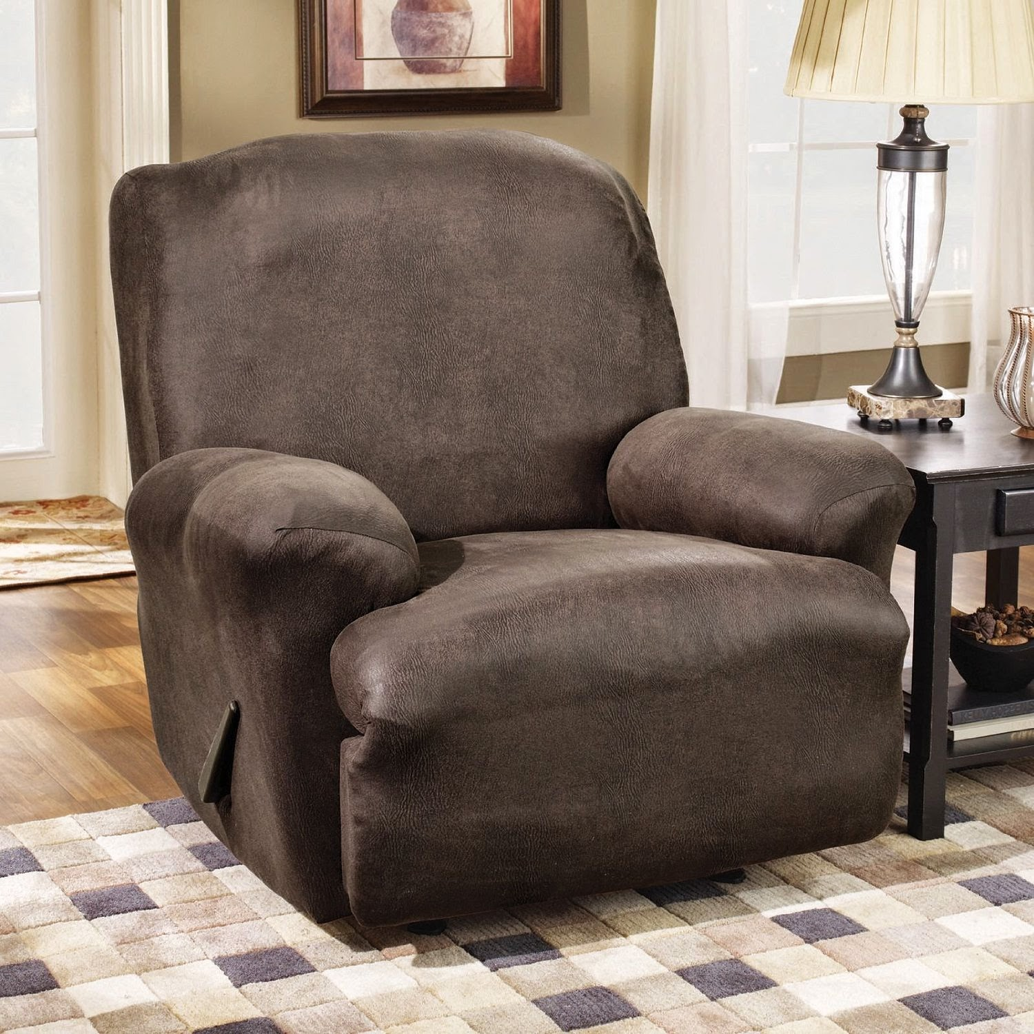 Charmant Reclining Microfiber Sofa And Loveseat Set