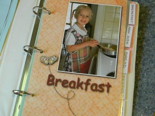 Diy Cookbook Cover : Home joys homemade cookbook for a daughter