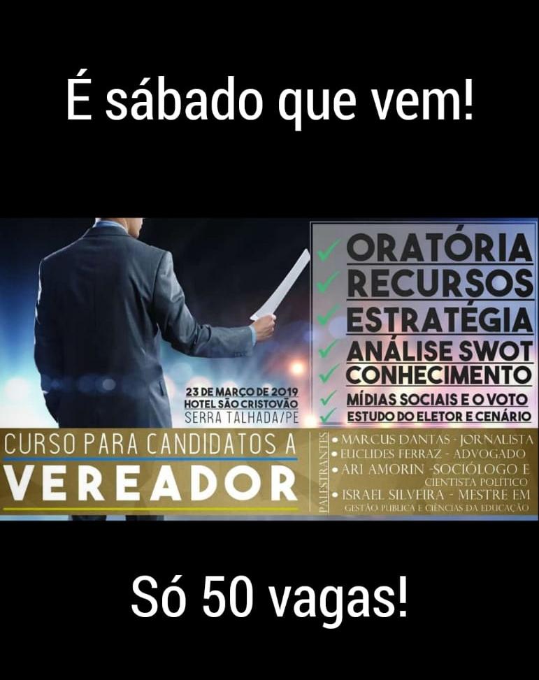 CURSO PARA CANDIDATOS A VEREADOR
