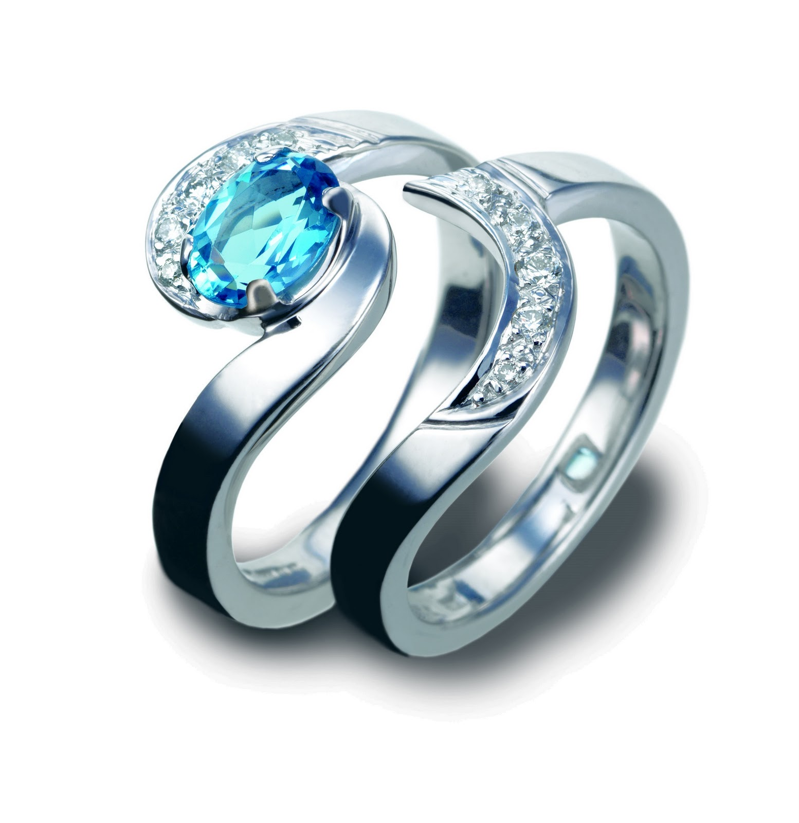 Ocean Inspired Engagement Rings Wedding Rings Diamond Marriage Life