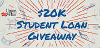 Union Plus $20K Student Loan Giveaway