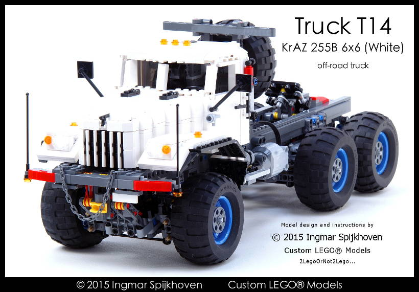 Ingmar Spijkhoven Truck T14 Kraz 255b 6x6 White With Instructions