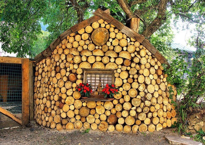 Cordwood Sheds and Cabins - Rustic Fabulous