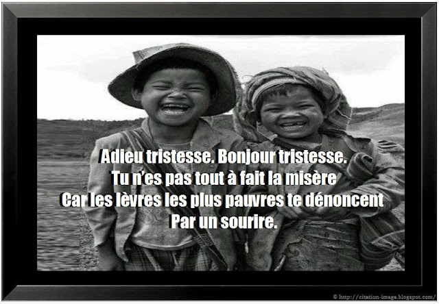 Citation sur la tristesse en photo