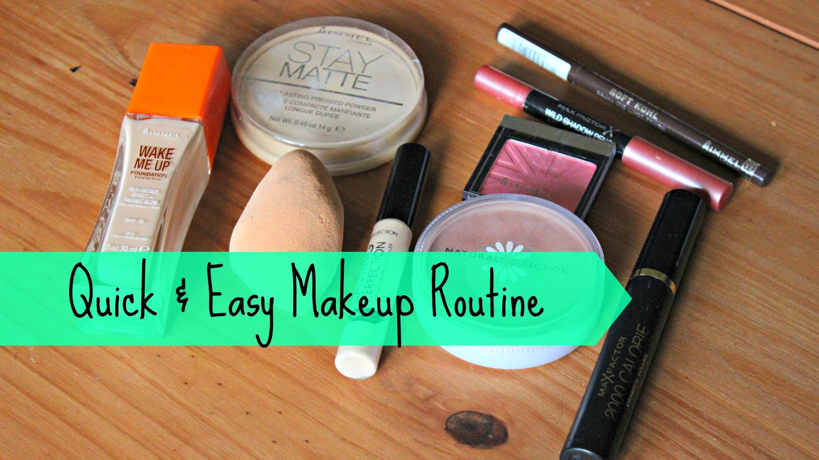 Easy makeup routine