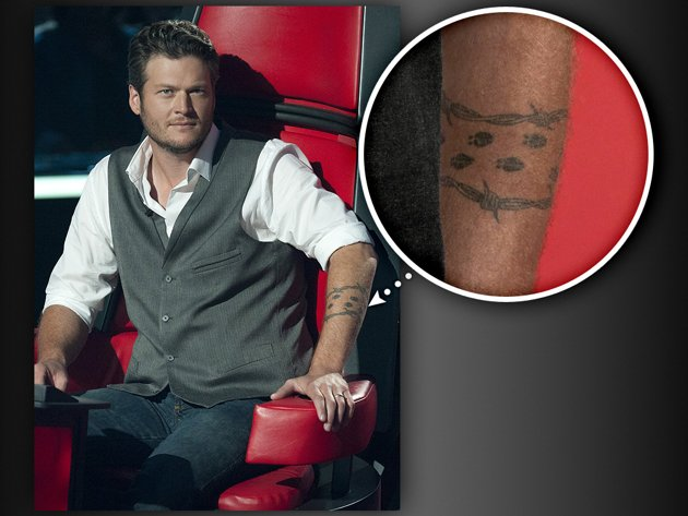 "NEWS] TATTOOS THE COACHES OF NBC'S 'THE VOICE' ""REGRET"" GETTING DONE"
